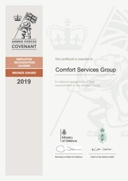 We have signed the Armed Forces Covenant to Support Defence Personnel